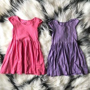 H&M Toddler Girl Pink & Purple Dresses Bundle